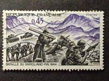 Buy France sTAMP 1 v mi 1668 used WW2 1944 Tanks in Battle of Garigliano