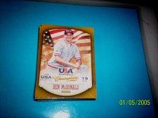 Buy BEN MCDONALD #20 2013 Panini USA Champions Gold Boarder Card FREE SHIP