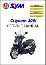 Buy SYM Citycom.300i ( Citycom 300i ) Scooter Service Manual on a CD ---- 300 i