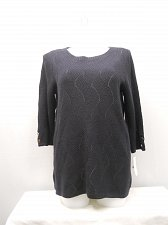 Buy Womens Crewneck Sweater CHARTER CLUB PLUS SIZE 1X Navy Quarter Sleeves Pullover