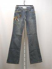 Buy Womens Jeans Size 7/8 Stonewashed Embellished Boot Cut Legs Milano Moda 30X32