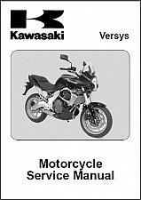Buy 2007-2008-2009 Kawasaki Versys Service Repair Manual CD -- KLE650 650
