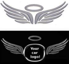 Buy Silver Chrome 3D Angel Car Emblem Decal Badge Sticker Kit Fits Around Car Logo