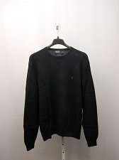 Buy Mens Sweater RALPH LAUREN SIZE XL Solid Navy Crew Neck Rib Waist Long Sleeves