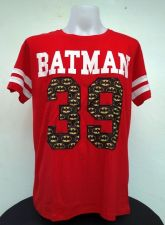 Buy Batman Red Cotton T-Shirt Super Hero Dccomics,Warner Bros Free Shipping