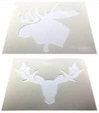 """Buy 2 pc Moose Head Stencils Mylar 14 Mil 14""""H X 17.5""""W - Painting /Crafts/ Template"""