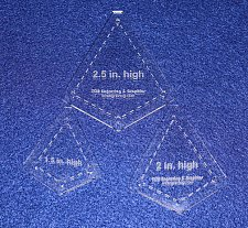 """Buy Quilting Template -3 Piece Small """"Kite"""" Shape Set - 1/8"""" Clear Acrylic"""