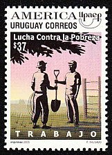 Buy Uruguay 2005 1v MNH stamp MI2911 Fight aganist poverty: work
