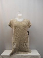 Buy PLUS SIZE 1X Womens Tunic Sweater Style&Co Rye Scoop Neck Short Sleeve Pullover