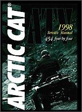 Buy 1998 Arctic Cat 454 500 ATV Service Manual on a CD