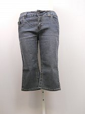 Buy SIZE 14 Women Denim Capris HYDRALIC Medium Wash Mid Rise Straight Leg Inseam 18