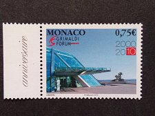 Buy Monaco 1v mnh 2010 Mi3001 Entrance of the Conference and Cultural Centre