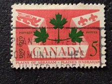 Buy Canada Used stamp 1v #388 - National Emblems (1959) 5¢