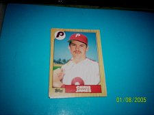 Buy 1987 Topps Traded Baseball CARD OF CHRIS JAMES PHILLIES #T53 MINT