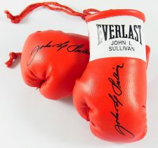 Buy Autographed Mini Boxing Gloves John L Sullivan