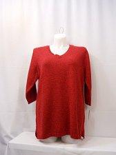 Buy Women Sweater KAREN SCOTT Solid Red Medium Knit PLUS SIZE 1X 2X