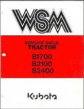Buy Kubota B1700 B2100 B2400 ( HSD - D ) Compact Tractor WSM Service Manual on a CD
