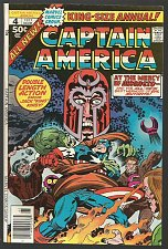 Buy Captain America Annual #4 MAGNETO Marvel Comics All new Jack Kirby VF/NM- 1977