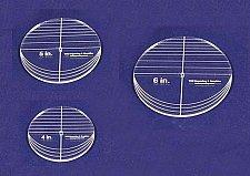 "Buy 3 Piece Circle Set - NO seam 4"",5"",6"" ~ 1/4"" Thick - Long Arm -Multi Use"
