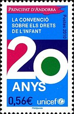 """Buy Andorra FRENCH 1v MNH stamp Mi 709 20 Years Convention of UN""""Right of Child"""""""