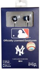 Buy MLB New York Yankees Printed Ear Buds, Blue/White iHip MLF10169NYY