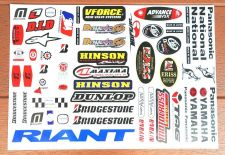 "Buy Racing Team sum stickers sticker Vinyl sheet pack kit 12"" X 18"""