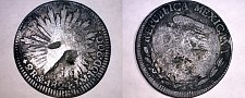 Buy 1824-Mo JM Mexican 2 Reales World Silver Coin - Mexico - Hookneck