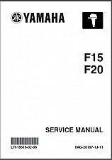 Buy Yamaha F15 F20 4-Stroke Outboard Motors Service Manual on a CD