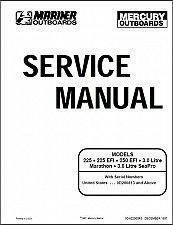 Buy Mercury 3 Litre Work / 225 Carb / 225 EFI / 250 EFI Outboards Service Manual CD