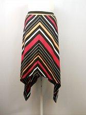 Buy Women Skirt Sharkbite Hem Asymmetrical Multi Striped PLUS SIZE 3X Elastic Waist