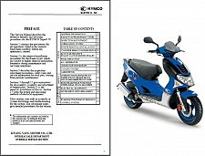 Buy 2003-2009 Kymco Super 9 50 Scooter Service & Parts Manual on a CD
