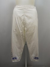 Buy PLUS SIZE 26W Women Cotton Capris AMERICAN SWEETHEART White Embroidered Detail
