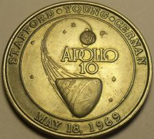Buy Apollo 10~38.8mm Medallion~May 18th, 1969~Stafford~Young~Cernan~Free Shipping