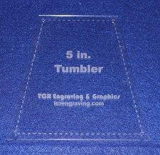 "Buy Quilt Templates-Tumbler 5"" w/ Seam/Holes Allowance - 1/8"" Clear Acrylic -"