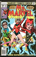 Buy Ms. Marvel #18 KEY 1st full MYSTIQUE 1978 VF 1st series Guardians of the Galaxy