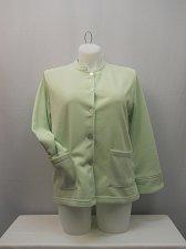 Buy Fleece Jacket SIZE L Womens Button TUDOR COURT Solid Mint Long Sleeve Career