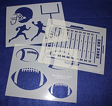 Buy 3 Pc Set -Mylar 14 Mil Football Stencils Painting/Crafts/Stencil/Template