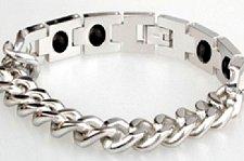 Buy ELECTRIFIED FEEL BETTER EJNP-P049 Steel Link Bracelet w 4 Germanium Stones
