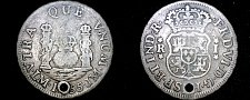 Buy 1755-LM JM Peruvian 1 Real World Silver Coin - Peru - Holed