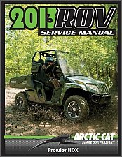 Buy 2013-2014-2015 Arctic Cat Prowler HDX Service Repair Workshop Manual CD