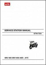 Buy Aprilia SRV 850 / SRV 850 ABS - ATC Scooter Service & Parts Manual on a CD