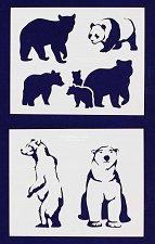 Buy Bear Stencils-2 pc Set-14 Mil Mylar- Painting/Crafts/Template