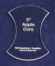 """Buy Apple Core 5"""" - 1/4"""" Thick - Clear Acrylic - Long Arm (1/4"""" foot) or Hand Sew"""
