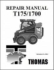 Buy Thomas T175 / 1700 Skid Steer Loader Service Repair Manual CD - T 175