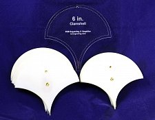 """Buy Mylar 6"""" Clamshell 51 Piece Set - Quilting / Sewing Templates -"""