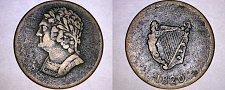 Buy 1820 Lower Canada Imitation Bust & Harp Token (Issued 1826-27) - 9 String Brass