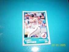 Buy 1988 Score Young Superstars series 1 baseball CORY SNYDER #40 FREE SHIP