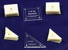 "Buy Mylar 1.5"" Square & 1.5"" Right Triangle 102 pc - Quilting / Sewing Templates -"
