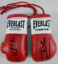 Buy Tyson Fury v Wladimir Klitschko Autographed Mini Boxing Gloves