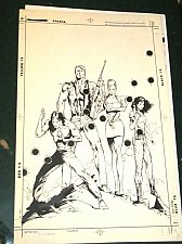 Buy COVER ART -STEALTH FORCE #1 Original Comic Art by Jerry Bingham $349 for a COVER